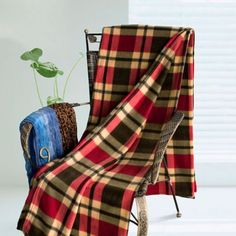 [Scotch Plaids - Red/Yellow/Grey] Soft Coral Fleece Throw Blanket (71 by 79 inches) by Blancho Blanket, http://www.amazon.com/dp/B006D9VF0G/ref=cm_sw_r_pi_dp_xnbOrb14E0GG4