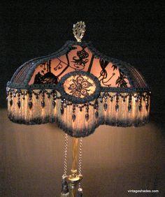ANTIQUE FLOOR LAMP VICTORIAN SHADE FOR FLOOR LAMP