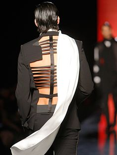 Dinner jacket with harness detail - Jean Paul Gaultier SS10 - pinned by RokStarroad.com