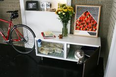 [PREVIOUS] The first hutch we made for Eames was an IKEA hack made from the Besta sideboard.