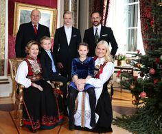 La Familia Real noruega por Navidad