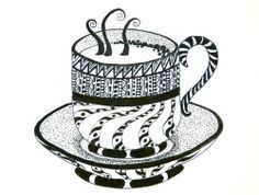 zentangle cup - Google Search