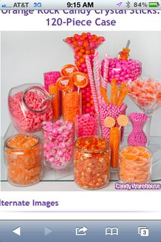 Orange and Pink Candy!