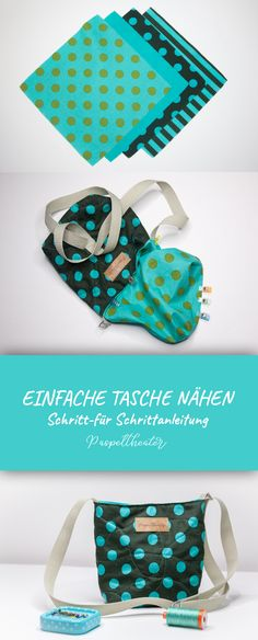 Sew a simple bag - step by step instructions for beginners - Sew a simple bag – sewing instructions for beginners Informations About Einfache Tasche nähen – - Fabric Crafts, Sewing Crafts, Sewing Projects, Knitting Projects, Diy Projects, Easy Crafts, Diy And Crafts, Easy Diy, Kids Crafts