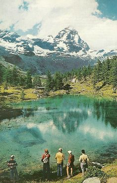 Italian view of the Matterhorn