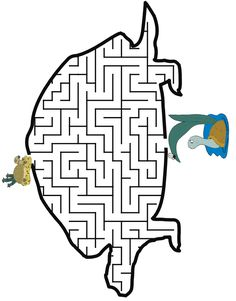 Turtle shaped maze from PrintActivities.com