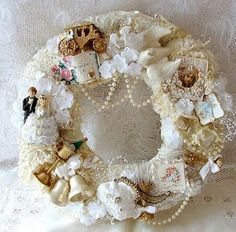 Lacy wedding wreath