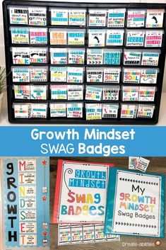 Growth Mindset Swag Badges - Recognize and reward your upper elementary 2nd, 3rd, 4th, and 5th grade students. You get 55 different swag badges for your classroom. Manage your students & reinforce positive behavior in a fun way. Increase student engagement and motivation. It's a classroom incentive system that won't require you to constantly be buying prices or candy. (second, third, fourth, fifth graders) #GrowthMindset Classroom Organization, Classroom Management, Classroom Incentives, 5th Grade Classroom, Positive Behavior, Student Engagement, Upper Elementary, 5th Grades, Growth Mindset