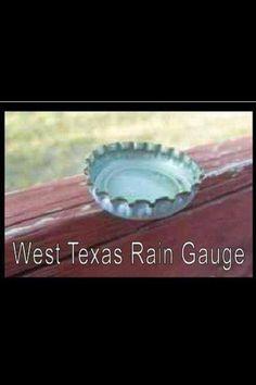 West Texas rain gauge