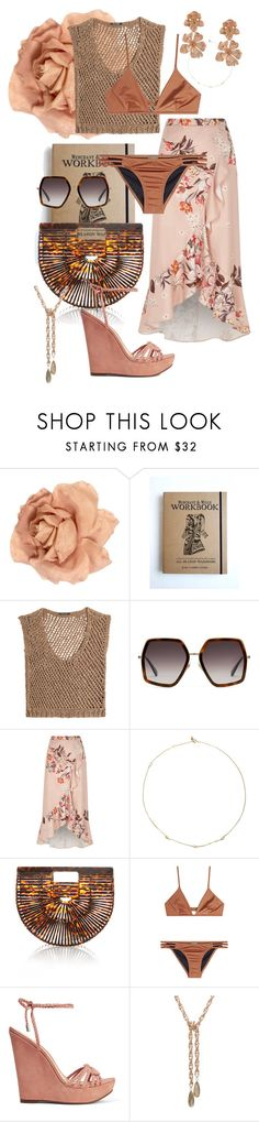 """half of my heart is in havana"" by bkrasniqi ❤ liked on Polyvore featuring Chanel, DAMIR DOMA, Gucci, River Island, Loren Stewart, Cult Gaia, Melissa Odabash, Schutz and Oscar de la Renta"