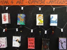 Inspiration: Chinese paper lanterns, The Chinese Lantern Festival. The students decorated the template I gave them for the lantern with ...