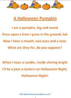 jack o lantern poem for kids halloween poems printable halloween poems for kids - Funny Halloween Poems For Kids