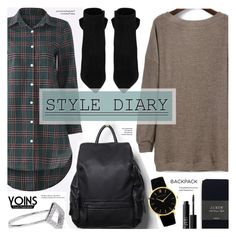 """""""Style Diary- Yoins 13"""" by anyasdesigns ❤ liked on Polyvore featuring Yves Saint Laurent, J.Crew, Noir Jewelry, NARS Cosmetics and Tiffany & Co."""