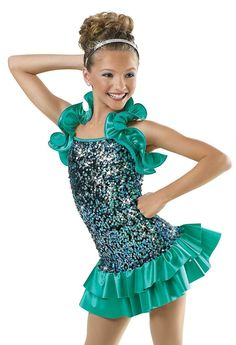 Sequin Dress with Ruffled Shrug; Weissman Costumes