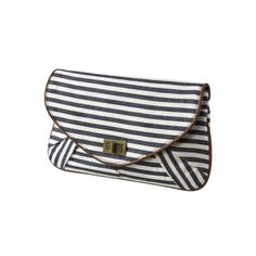 Mossimo Striped Large Printed Clutch found on Polyvore