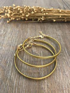 Golden Grass Slim Bracelet