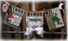 This art that makes me happy: Vintage Christmas LOVE Bingo card ornaments Christmas Swags, Christmas Banners, Christmas Love, Retro Christmas, Christmas Holidays, Christmas Ideas, Christmas Paper, Happy Holidays, Christmas Ornaments