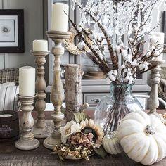 Romantische Herbstdeko im Shabby Chic. #diy #doityourself #rustoleum #makeityours #vintage #shabbychic #chalkpaintedfurniture #chalkpainting