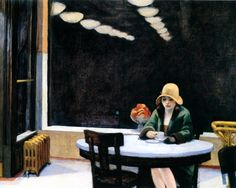 "Edward Hopper, ""Automat"", 1927."
