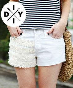 3 DIY Cutoff Shorts That'll Save Your Summer (and a Few Bucks!):  Boyfriend // Bleached // White Lace
