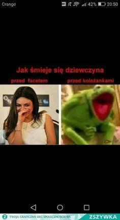 Hahahaha no tak😂😂 Wtf Funny, Funny Cute, Polish Memes, Funny Mems, Happy Photos, Dead Memes, True Memes, Kermit, Funny Comics