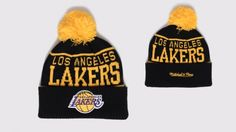 Mitchell and Ness Bonnet Pompon - Lakers
