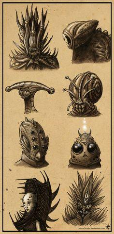 Aliens /Concept Sketches/ by UnicatStudio on deviantART