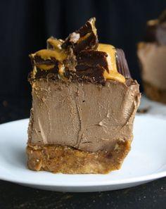 Vegan Chocolate Peanut Butter Cheese Cake
