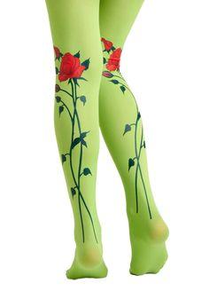green rose stockings