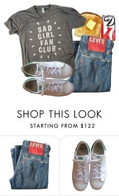 """""""Untitled #494"""" by amandaa-fashion ❤ liked on Polyvore featuring Levi's and adidas"""