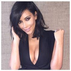 kim kardashian long bob haircut - Google Search