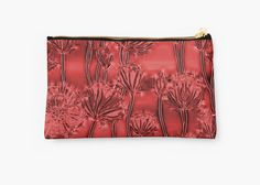 Abstract saturated red flowers, dark scarlet floral pattern •  Also Available as T-Shirts & #Hoodies, Men's #Apparels, Women's Apparels, #Stickers, #iPhone #Cases, #Samsung #Galaxy Cases, #Posters, #Home Decors, #Tote #Bags, #Pouches, #Art #Prints, #Cards, Mini #Skirts, #Scarves, #iPad Cases, #Laptop #Skins, Drawstring Bags, Laptop #Sleeves, #tapestries and #Stationeries