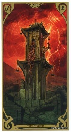The Tower - Night Sun Tarot by Fabio Listrani