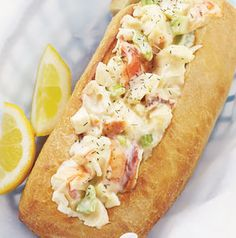 Traditionally Maine Lobster Rolls are served in rolls, but you can serve the salad in just about anything – croissants, toasted bread or in lettuce cups.