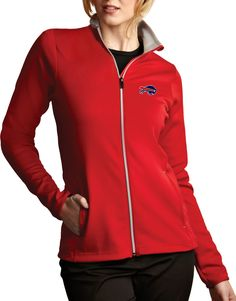 separation shoes a44fb ff58a Antigua Women s Buffalo Bills Leader Full-Zip Red Jacket