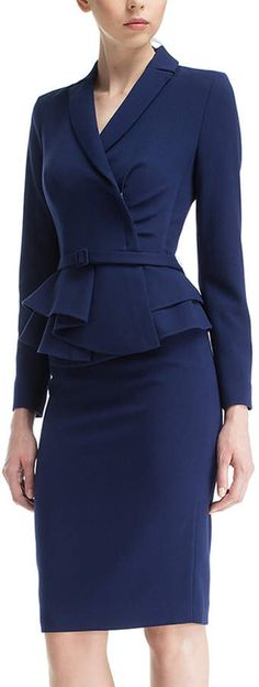 Classy Business Outfits, Business Attire, Suits For Women, Clothes For Women, Office Outfits Women, Cool Outfits, Fashion Outfits, Professional Dresses, Work Wardrobe