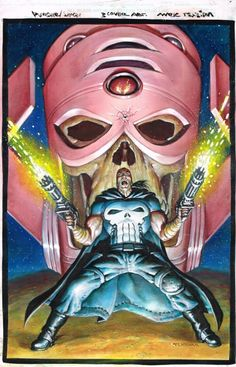 Space Punisher #3 Cover Comic Art