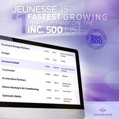 """---> http://www.prnewswire.com/news-releases/jeunesse-is-no-1-fastest-growing-dsa-company-on-the-inc-500-274006041.html """"It's quite an honor for Jeunesse to be acknowledged as one of the fastest growing companies in America, . . . I'm proud to say that a lot of the credit goes to our family of distributors and staff who work so hard and who are all responsible for the growth of this company."""" Co-Founder, Wendy Lewis."""