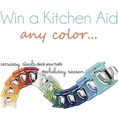 Win a Kitchen Aid {any color} on iheartnaptime.net #giveaway