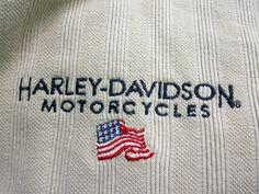 Harley Davidson Polo Shirt  2XL Tan Ribbed Reno Nevada USA Flag Motorcycles #HarleyDavidson #PoloRugby