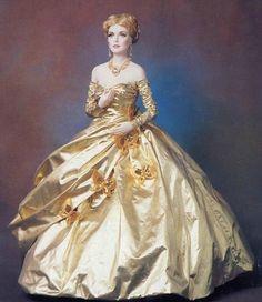 """Poupée - robe de """"Conte de Fée"""" ~ (Poupée + Tout en doré)"""
