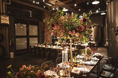 Dramatic candlelit wedding at Brooklyn Winery. Unique Wedding Venues, Rustic Wedding, Our Wedding, Corporate Events, Wedding Couples, Brooklyn, Backdrops, Wedding Decorations, Marriage