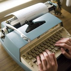 Yes, we learned to type on a manual typewriter!