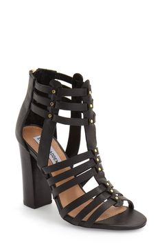 New wardrobe staple! These sandals from Steve Madden highlight huarache-inspired straps and are set on lofty column heel.
