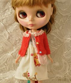 Cute cardigan for Dolls-Red