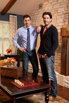 Hot Property Brothers. I wouldn't mind being right in the middle of these two. Property brothers sandwich...YES!