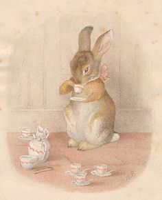 """The Tea Party"" (1893) - Beatrix Potter"