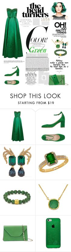 """""""Frosted Green Head Turner Dress - Blind Dates"""" by allyssister ❤ liked on Polyvore featuring Roberto Festa, Oscar de la Renta, Lord & Taylor, BillyTheTree, Valextra and Envi:"""