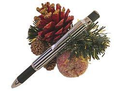 Handmade Knurl GT Gun Metal Twist Pen in Black and by CraftCrazy4U