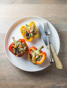 Bust Out of Your Dinner Rut with Quinoa-Stuffed Peppers
